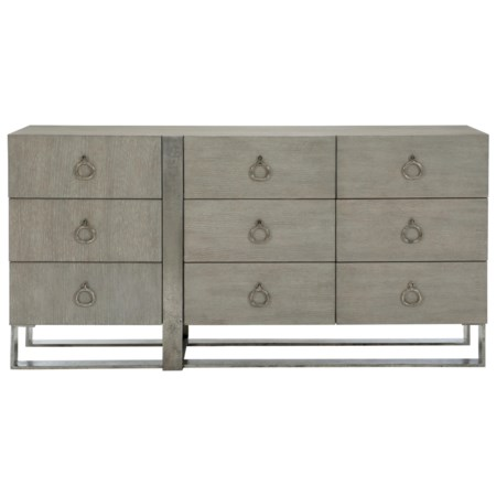 Transitional Dresser with Metal Base