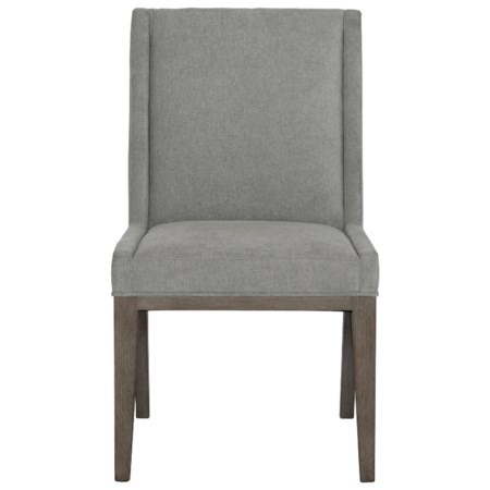 Customizable Transitional Upholstered Side Chair