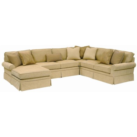 Sectional with Subtle Rolled Arms