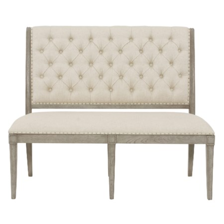Upholstered Banquette with Button Tufting