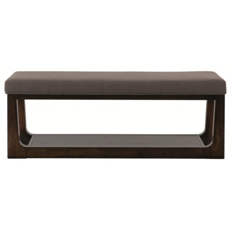 Contemporary Side Bench with Shelf for Modern Style