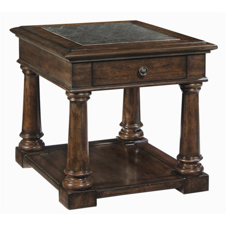 End Table With Stone Top