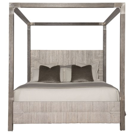California King Woven Abaca Canopy Bed
