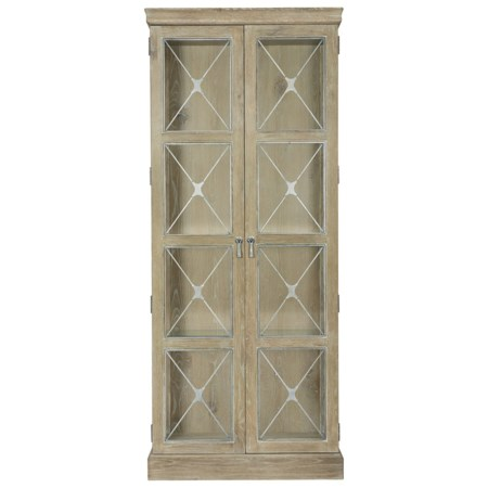 Rustic Dining Room Curio with Adjustable Shelving
