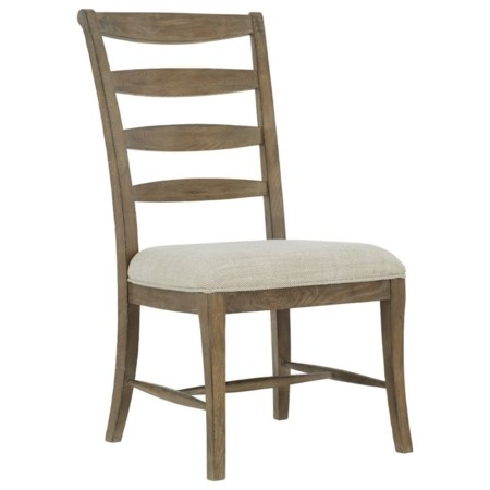 Customizable Rustic Ladderback Side Chair