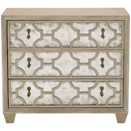 Transitional Nightstand with 3 Drawers