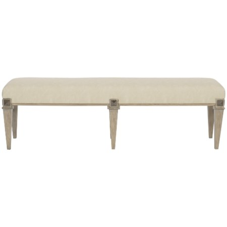 Transitional Bench with Upholstered Seat