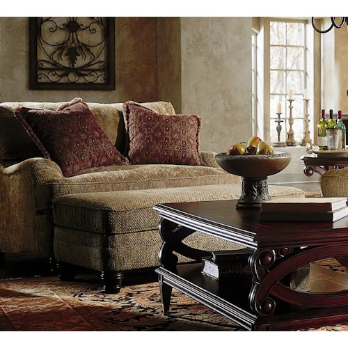 Bernhardt tarleton chair and a half and ottoman belfort for Bernhardt living room furniture