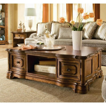 Storage Coffee Table with 2 Doors