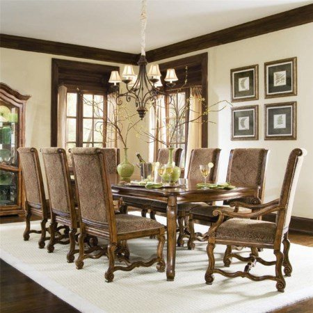 9 Piece Scrolled Table Set