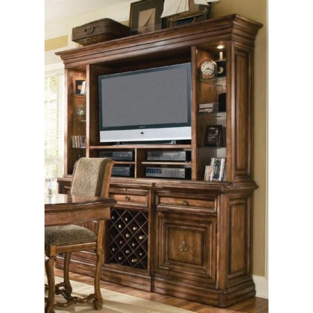 Entertainment Buffet and Hutch