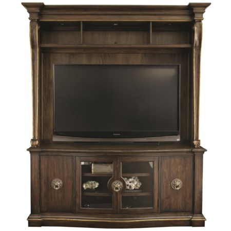 4-Door Entertainment Console with Deck
