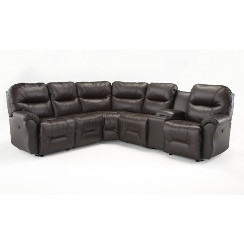 Best home furnishings bodie six piece reclining sectional for Furniture 0 down
