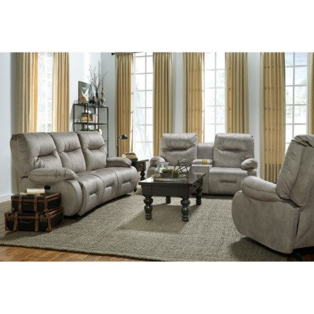 Power Reclining Living Room Group with Power Tilt Headrests
