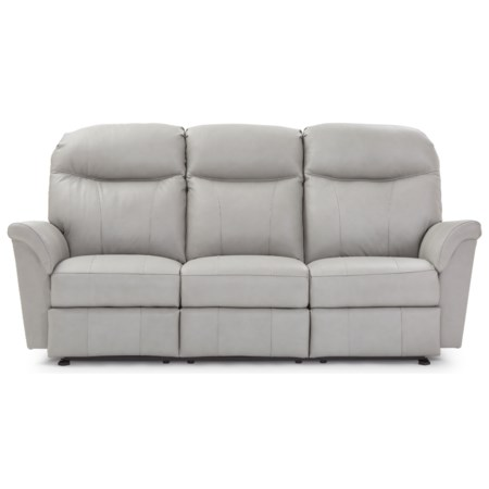 Casual Power Reclining Space Saver Sofa