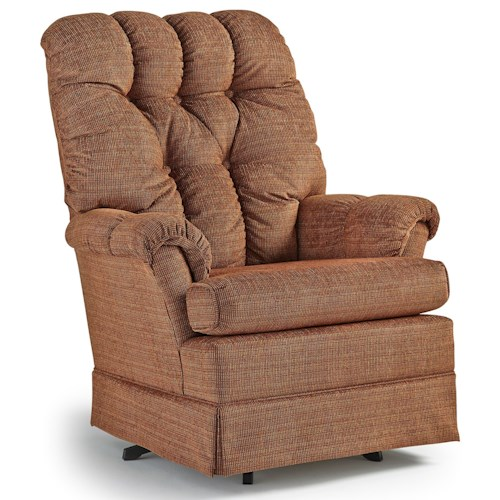 Best home furnishings chairs swivel glide biscay swivel - Best swivel chairs for living room ...