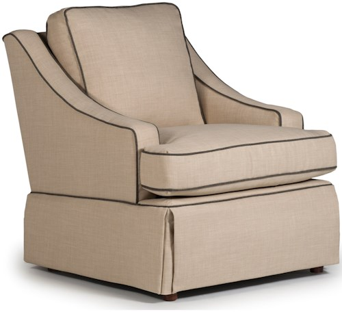 Best Home Furnishings Chairs Swivel Glide Contemporary