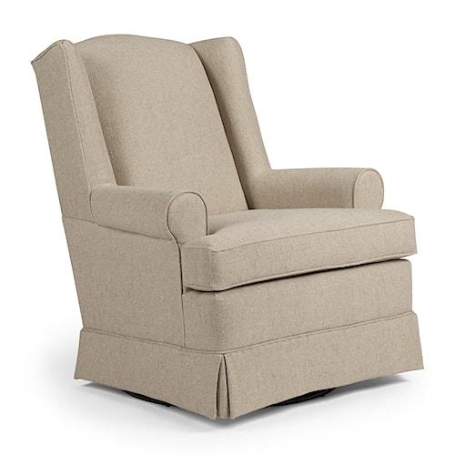 best home furnishings chairs swivel glide roni skirted