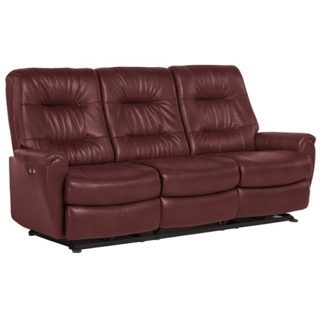 Small-Scale Power Reclining Sofa with Chic Button Tufting