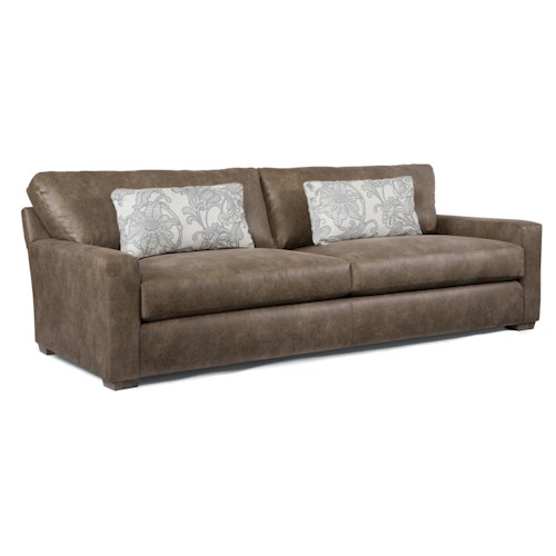 Best home furnishings hannah contemporary sofa with deep for Furniture 500 companies