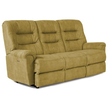 Casual Reclining Sofa with Automotive-Inspired Design