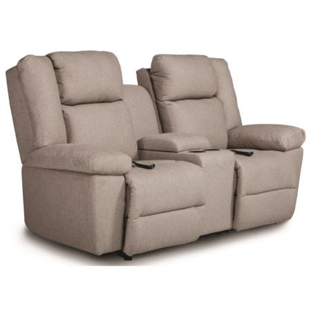 Power Tilt Head/Lumbar Rocking Reclining Loveseat with Cupholder Storage and USB Charging Ports