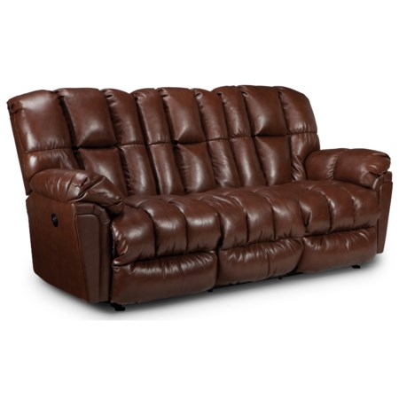Casual Plush Power Reclining Sofa with Full-Coverage Chaise Legrest