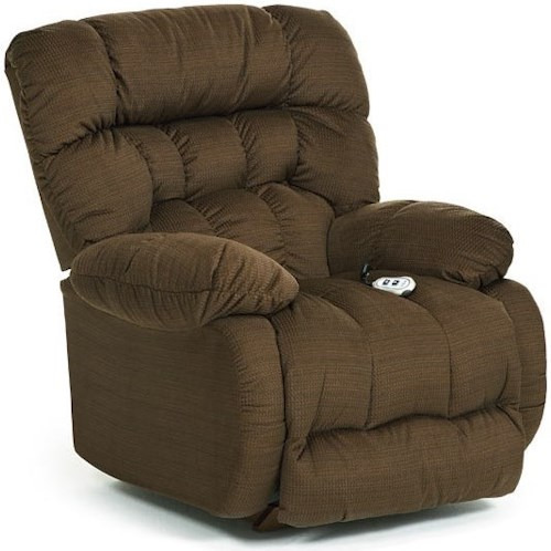 Best Home Furnishings Recliners Medium Plusher Swivel Rocking Reclining Chair Wayside
