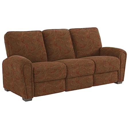 Casual Power Reclining Space Saver Sofa
