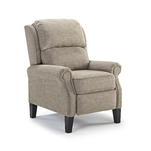 Best Home Furnishings Recliners Pushback Power Recliner With Rolled Arms Prime Brothers