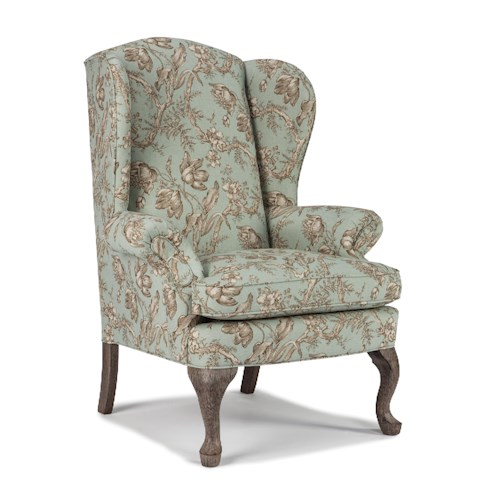 Best Home Furnishings Chairs Wing Back Sylvia Wing Back Chair Wayside Furniture Wing Chairs