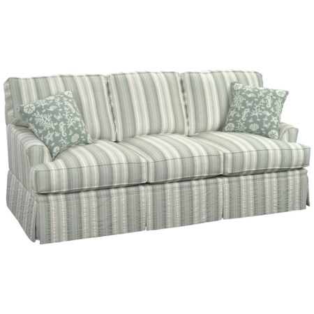 Casual Westport Sofa with Traditional Kick Skirt