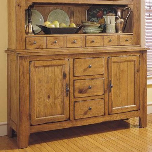Broyhill furniture attic heirlooms buffet with storage for Broyhill dining room furniture