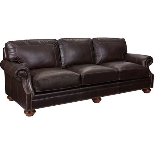 Broyhill furniture heuer traditional sofa with rolled arms for Furniture 500 companies