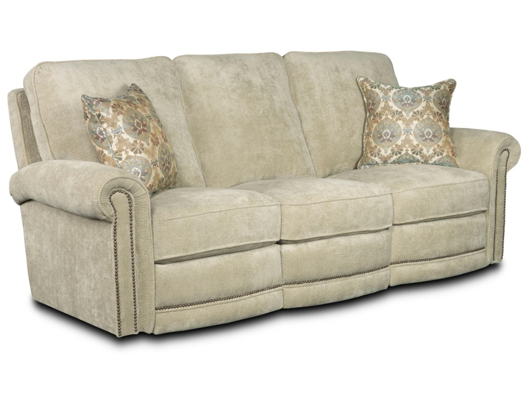 Traditional reclining sofa justice furniture at for Traditional couches