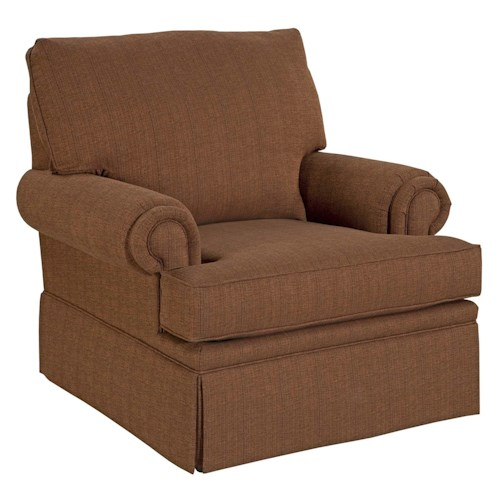 Broyhill furniture jenna upholstered chair with rolled for Furniture 500 companies