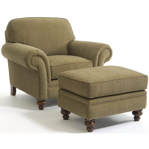 Broyhill furniture larissa traditional stationary chair for Traditional sofas with legs