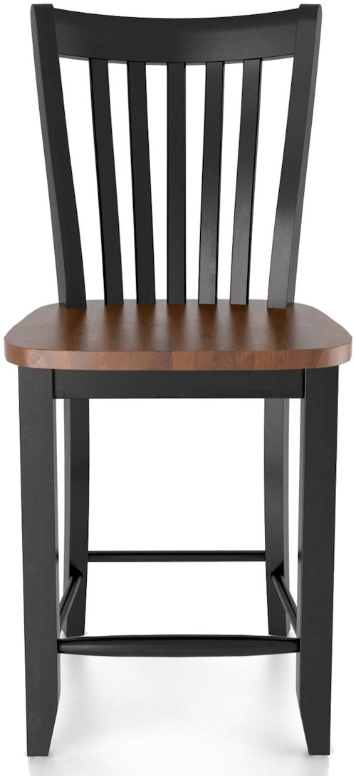Canadel bar stools customizable 24 fixed stool rotmans for Furniture 0 percent financing