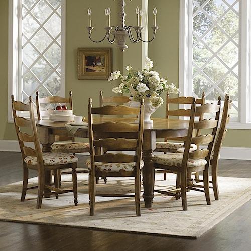 canadel champlain custom dining customizable round table
