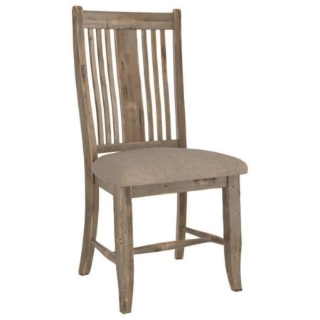 Customizable Rustic Upholstered Side Chair