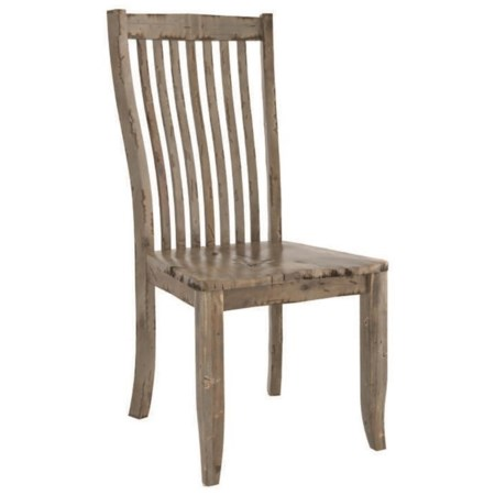 Customizable Side Chair with Slat Back