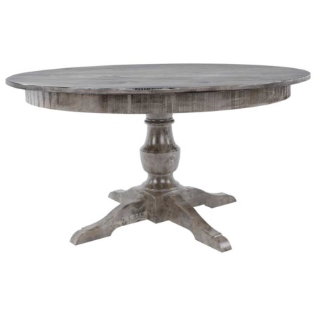 """Customizable 54"""" Round Wood Solid Top Table"""