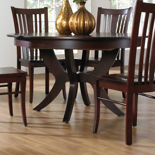 Canadel custom dining customizable round table with for Dining sets nashville tn