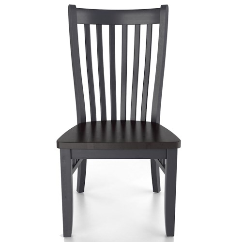 canadel custom dining customizable mission side chair