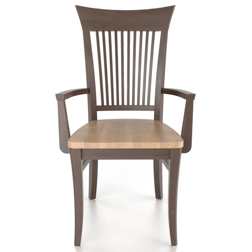canadel custom dining customizable slat back armchair