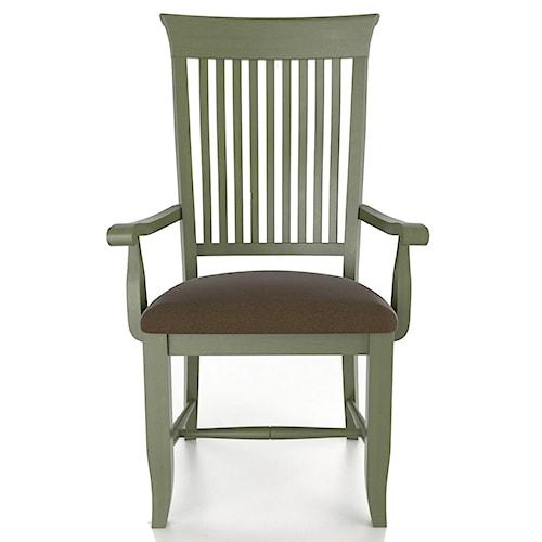 canadel custom dining customizable slat back upholstered