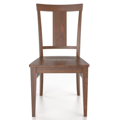 canadel custom dining customizable side chair wood seat