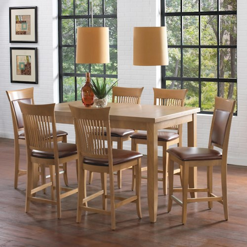 canadel custom dining high dining customizable counter height table set with leaf belfort. Black Bedroom Furniture Sets. Home Design Ideas