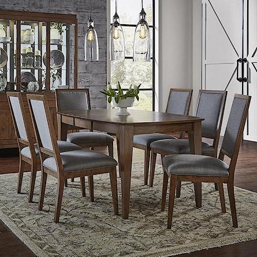 Canadel pecan washed dining set belfort furniture for B q dining room furniture