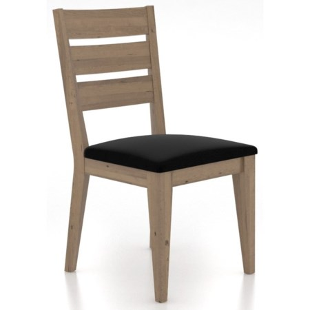 Customizable Dining Chair with Upholstered Seat